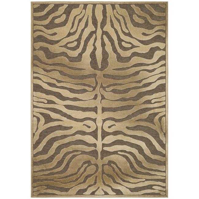 Safavieh Paradise Tiger Brown Viscose Rug (7'10' x 11'2)