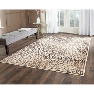 Safavieh Paradise Leopard Cream Viscose Rug (5'3 x 7'6)