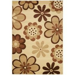 Safavieh Fine-spun Dasies Floral Ivory/ Brown Area Rug (7'10' x 11')