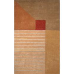 Safavieh Handmade Rodeo Drive Trio Multicolor N.Z. Wool Rug (7'6 x 9'6)