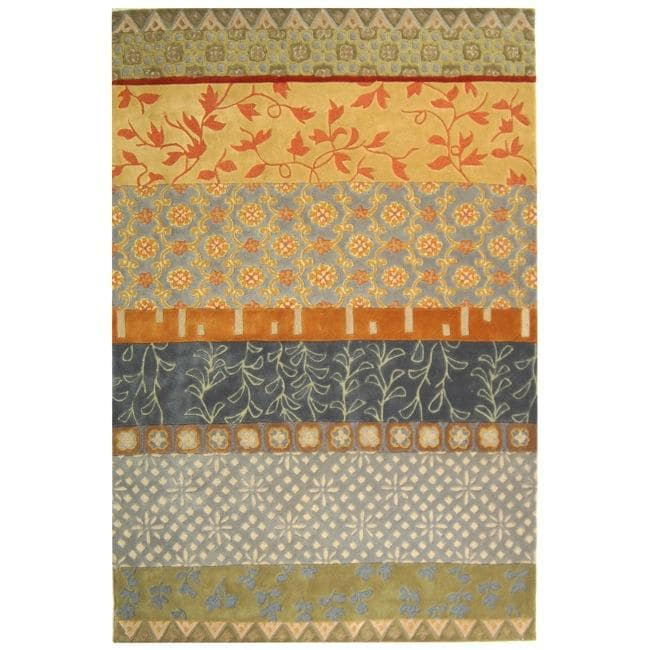 Safavieh Handmade Rodeo Drive Collage Multicolor N.Z. Wool Rug (9'6 x 13'6)