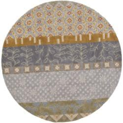 Safavieh Handmade Rodeo Drive Collage Multicolor N.Z. Wool Rug (5'9 Round)