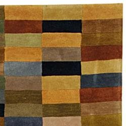 Handmade Rodeo Drive Patchwork Multicolor N.Z. Wool Runner (2'6 x 14')