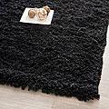 Safavieh Hand-woven Bliss Black Shag Rug (5' x 8')