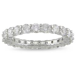 18k White Gold 3ct TDW Diamond Eternity Ring (H-I, SI1-SI2)
