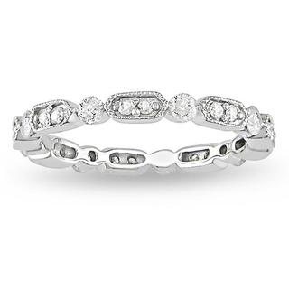 10k White Gold 1/2ct TDW Vintage Diamond Band (G-H, I2-I3)