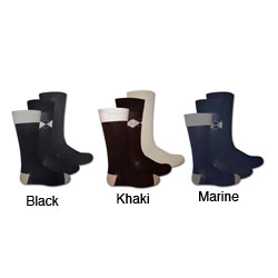 Muk Luks 'I Luv Planet Earth' Men's Crew Socks (3 Pair)