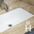 Highpoint Collection White 19x11-inch Undermount Ceramic Vanity Sink