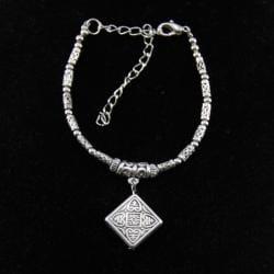 Tibetan Silver Square Charm Bracelet (China)