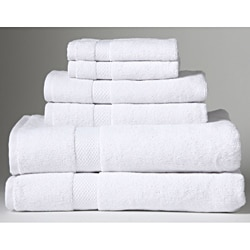 Turkish Organic Cotton White 6-piece Towel Set