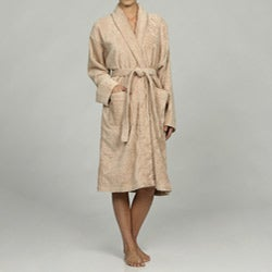 Unisex Turkish Organic Cotton Terry Bathrobe - Au Natural