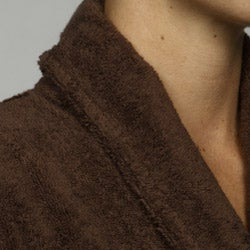 Unisex Turkish Organic Cotton Terry Bath Robe - Chocolate
