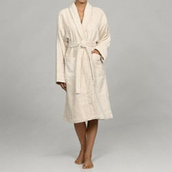 Unisex Turkish Organic Cotton Terry Bath Robe - Ecru
