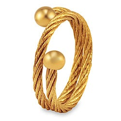 Goldplated Stainless Steel Rope Design Ring