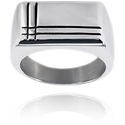 Stainless Steel Polished Groove Ring