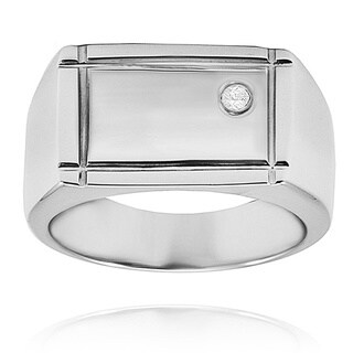 Stainless Steel Cubic Zirconia Ring