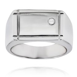 West Coast Jewelry Stainless Steel Cubic Zirconia Ring