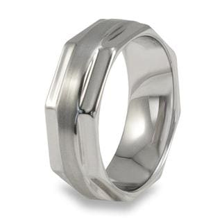 Men's Tungsten Carbide Octagonal Ring