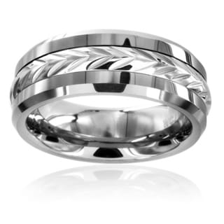 Crucible Men's Tungsten Carbide Laurel Inlay Ring