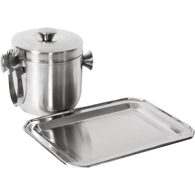 Stainless Steel Ice Bucket Set