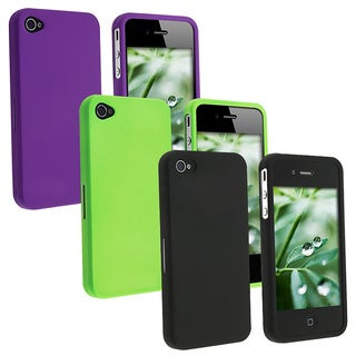 Snap-on Apple iPhone 4 Rubber Coated Case