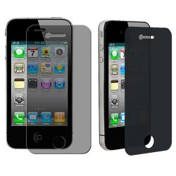 INSTEN Privacy Screen Filter for Apple iPhone 4