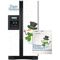 Appliance Art Snow Men Combo Refrigerator/ Dishwasher Cover