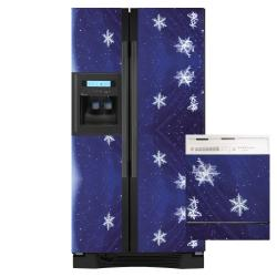 Appliance Art Snow Flakes Combo Refrigerator/ Dishwasher Cover
