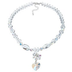 Crystale Crystal and Glass Bead Necklace