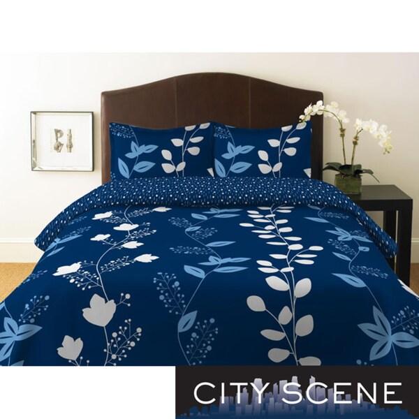 City Scene Garden Trellis King-size Duvet Cover Set