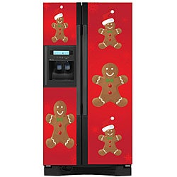Appliance Art Holiday Gingerbread Man Refrigerator Cover