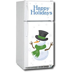 Appliance Art Snow Men Refrigerator Cover