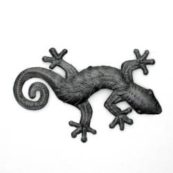 Recycled Oil Drum Natural 8-inch Gecko Wall Art (Haiti)