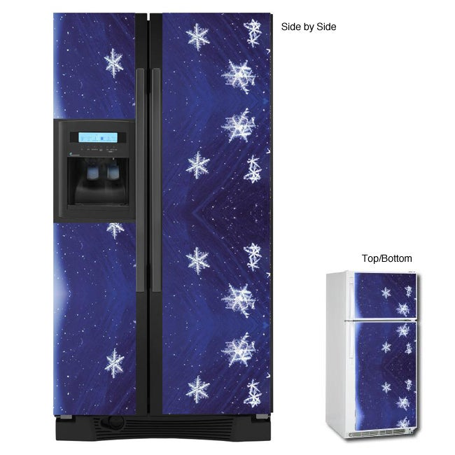 Appliance Art Snow Flakes Refrigerator Cover