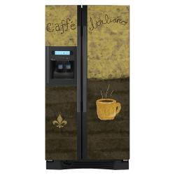 Appliance Art Caffe Refrigerator Cover