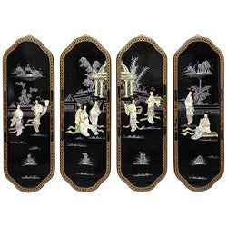 Eight Ladies Curved Wall Plaques (China)