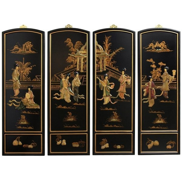 Ladies Soapstone Wall Plaques (China)