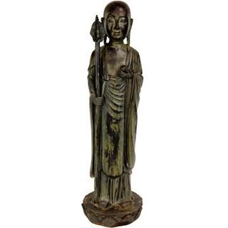 Resin Standing Japanese Zen Monk Statue (China)