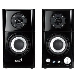 Genius SP-HF500A 2.0 Speaker System - 14 W RMS - Black, Wood
