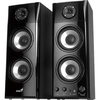 Genius SP-HF1800A 2.0 Speaker System - 50 W RMS - Black
