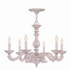 Sutton 6-light Antique White Chandelier