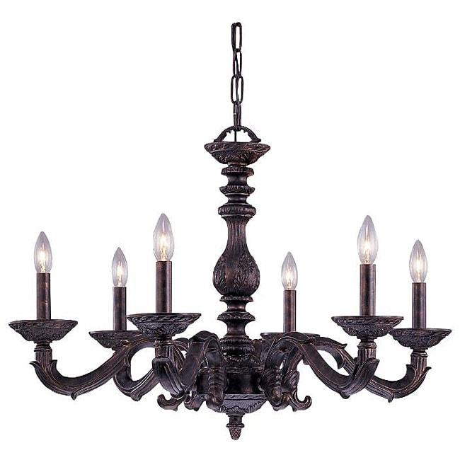Sutton 6-light Venetian Bronze Chandelier
