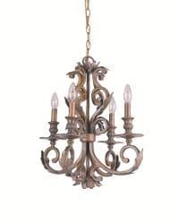Royal 4-Light Florentine Bronze-Finish Wrought-Iron Chandelier