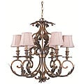 Royal 6-light Florentine Bronze Chandelier