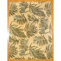Indo Tibetan Hand-tufted Yellow / Brown Wool Rug (8 x 11)