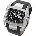 Diesel Men's Black Leather Strap Quartz Watch