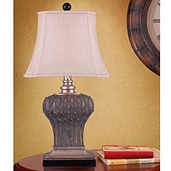 Vintage Leaf Motif Table Lamp