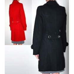Institute Liberal Women's Single-breasted Wool Blend Trench Coat