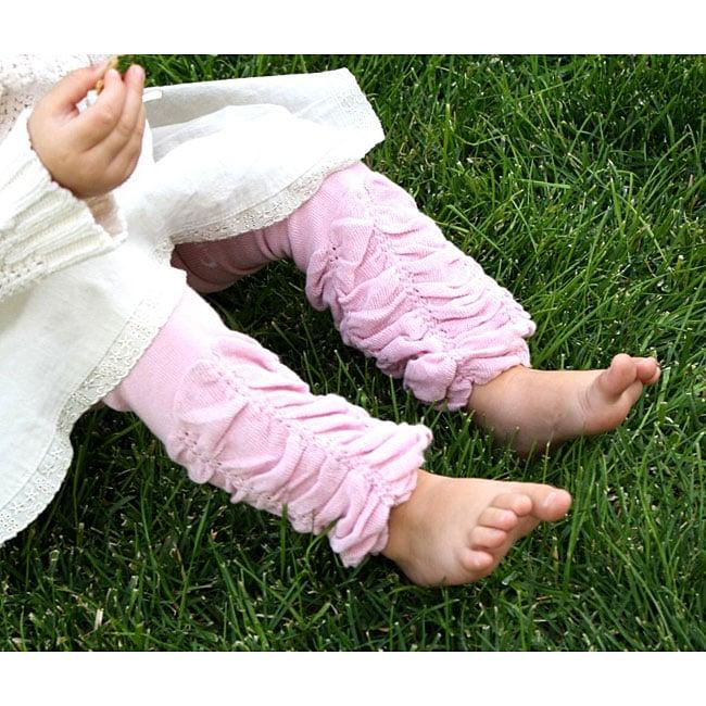 Headbandz Dusty Rose Scrunched Baby Leg Warmers