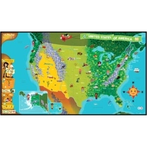 LeapFrog Tag 24025 United States of America Map Story BookStory Print